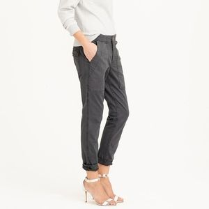 J. Crew Skinny Washed Twill Utility Pant